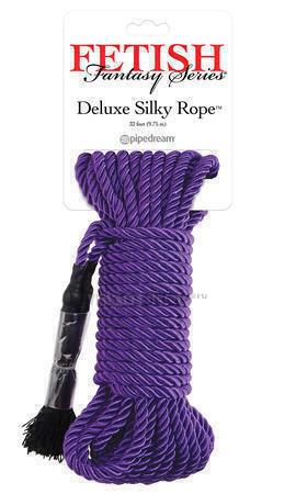 Веревка для фиксации Pipedream Deluxe Silky Rope фиолетовый