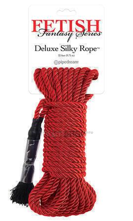 Веревка для фиксации Pipedream Deluxe Silky Rope красная