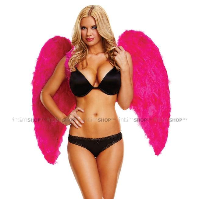 Большие крылья из натуральных перьев Ann Devine Fantasy Dream, фуксия