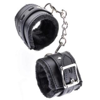 Наручники на цепочке Pipedream Fetish Fantasy Limited Edition Cumfy Cuffs  с мехом, черные