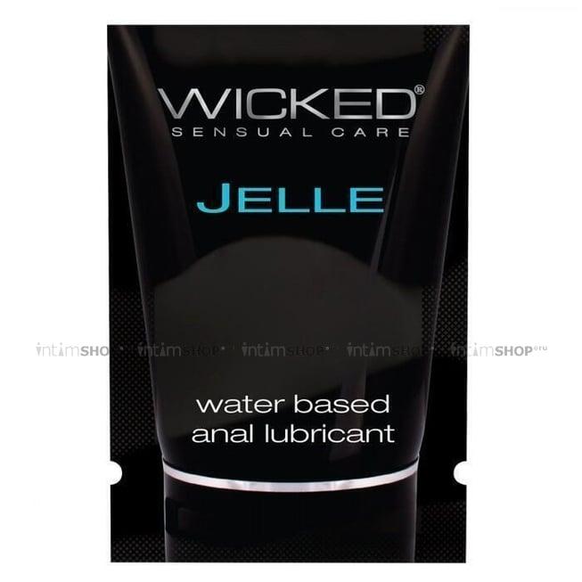 Анальный лубрикант Wicked Jelle на водной основе, 3 мл в саше