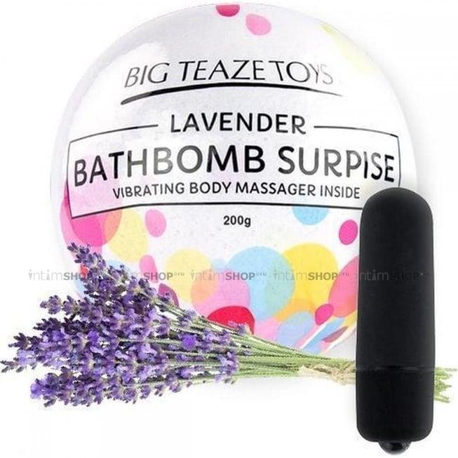 Бомба для ванны и вибропуля Big Teaze Toys Bath Bomb Surprise лаванда, черный