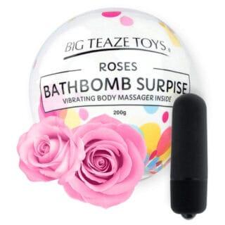 Бомба для ванны и вибропуля Big Teaze Toys Bath Bomb Surprise роза, черный
