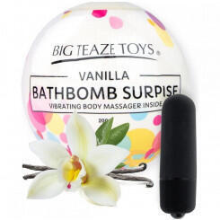 Бомба для ванны и вибропуля Big Teaze Toys Bath Bomb Surprise ваниль, черный