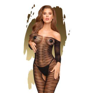 Чулок на тело Penthouse Dreamy Diva, черный, XL