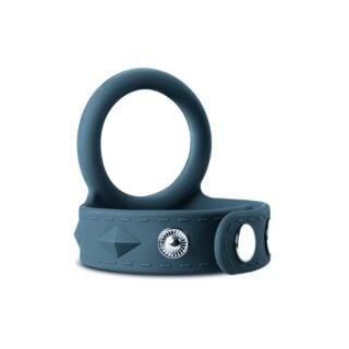 Эрекционное кольцо с ремешком для мошонки EDC Wholesale Boners, L, серый