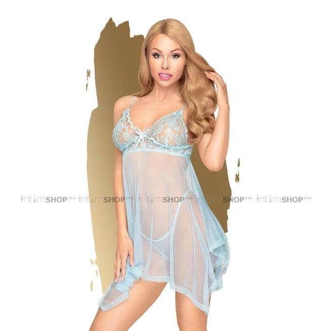 Комплект бебидолл и трусики Penthouse Naughty Doll голубой L/XL