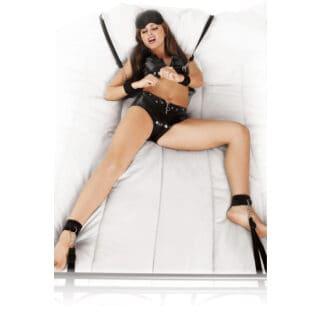 Комплект для связывания PipeDream Bed Bindings Restaint Kit, чёрный