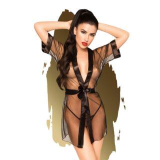 Комплект кимоно и трусики Penthouse Midnight Mirage черный, XL