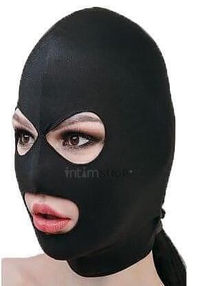 Маска-шлем МиФ с отверстиями для глаз и рта чёрная OS