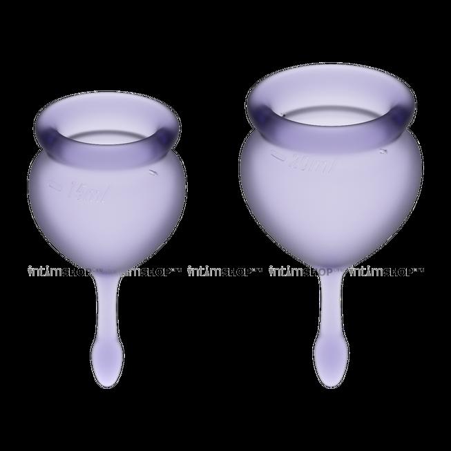 Менструальные чаши Satisfyer Feel Good, 2 шт в наборе, лиловый