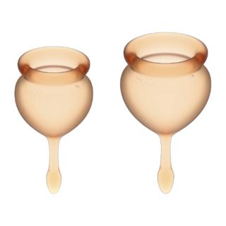 Менструальные чаши Satisfyer Feel Good, 2 шт в наборе, оранжевый
