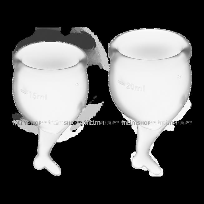 Менструальные чаши Satisfyer Feel Secure, 2 шт в наборе, бесцветный