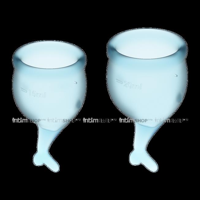 Менструальные чаши Satisfyer Feel Secure, 2 шт в наборе, голубой