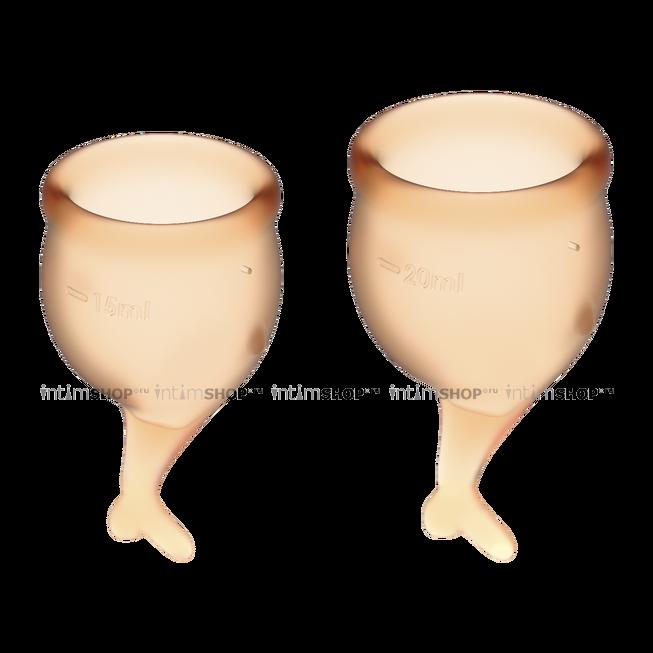 Менструальные чаши Satisfyer Feel Secure, 2 шт в наборе, оранжевый