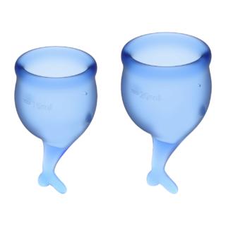 Менструальные чаши Satisfyer Feel Secure, 2 шт в наборе, синий