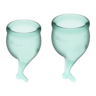 Менструальные чаши Satisfyer Feel Secure, 2 шт в наборе, зелёный