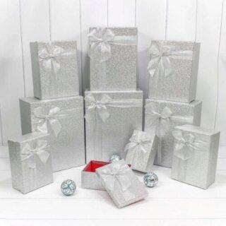 "Подарочная коробка ""Дарите Счастье"", серебристый"
