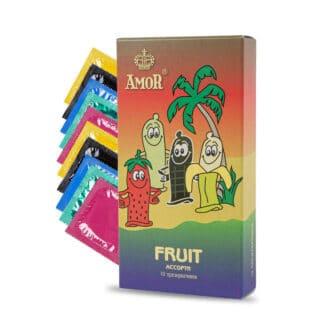 Презервативы Amor Яркая Линия Fruit, ассорти, 10 шт