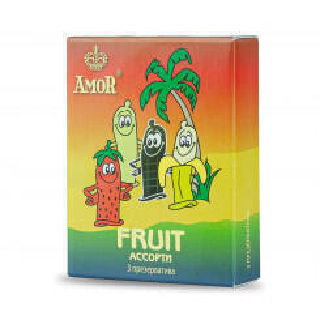 Презервативы Amor Яркая Линия Fruit №3, 3 шт