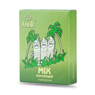 Презервативы Amor Яркая Линия Mix, 3 шт