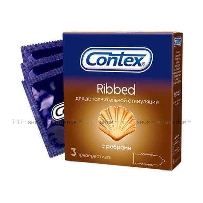 Презервативы ребристые Contex Ribbed №3