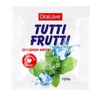Съедобная гель-смазка Tutti-Frutti OraLove, Сладкая мята, 4 мл саше