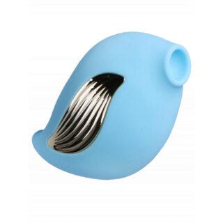 Вакуумный стимулятор с вибрацией Джага-Джага, голубой