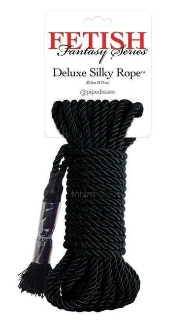 Веревка для фиксации Pipedream Deluxe Silky Rope черная