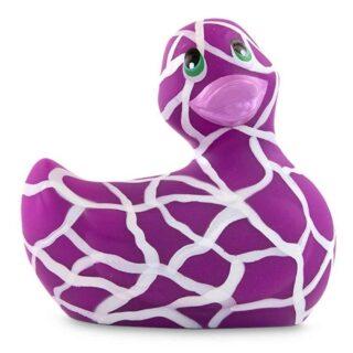 Вибратор-уточка Big Teaze Toys I Rub My Duckie 2.0, бело-фиолетовый