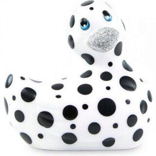 Вибратор-уточка Big Teaze Toys I Rub My Duckie 2.0, черно-белый