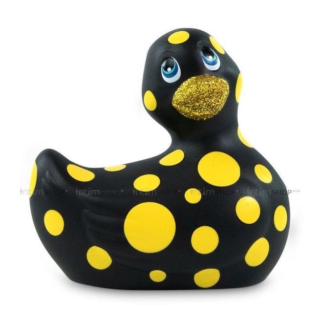 Вибратор-уточка Big Teaze Toys I Rub My Duckie 2.0, черно-желтый