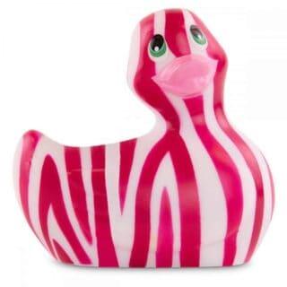 Вибратор-уточка Big Teaze Toys I Rub My Duckie 2.0 Wild, розово-красный
